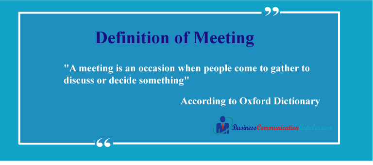 Definition of Meeting
