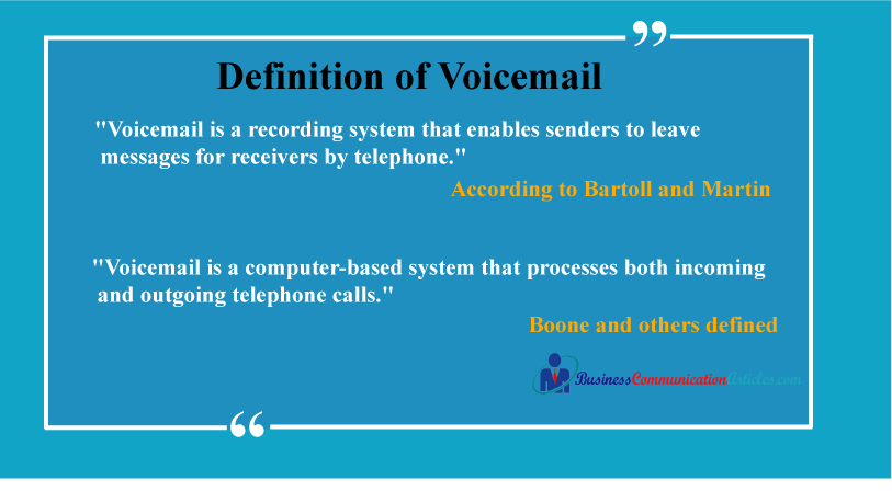 What is a Voicemail?