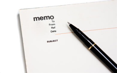 How to write a business memo format