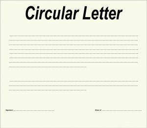 Objective of Circular Letter