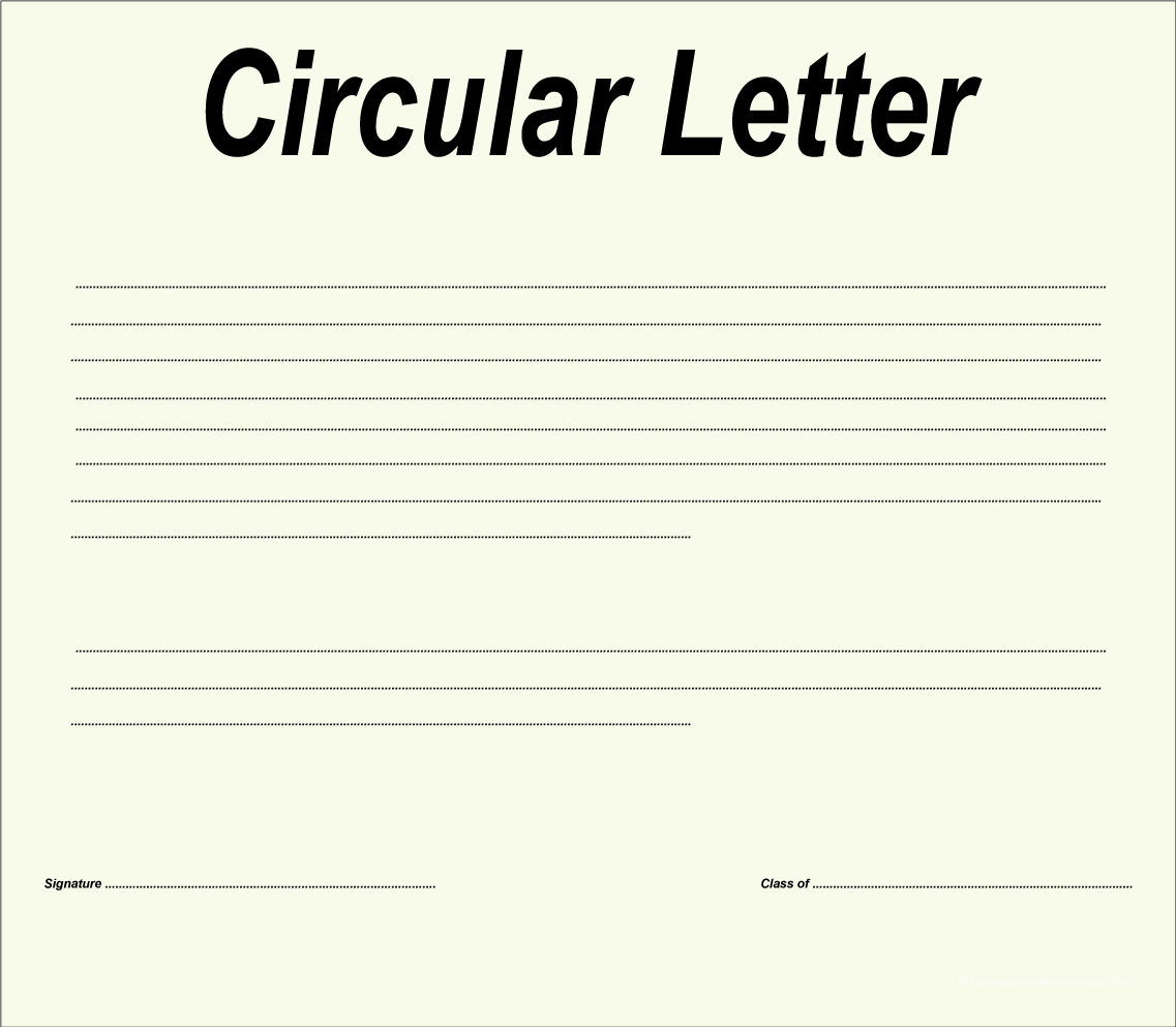Objective of circular letter and factors for drafting circular letter objective of circular letter altavistaventures Images