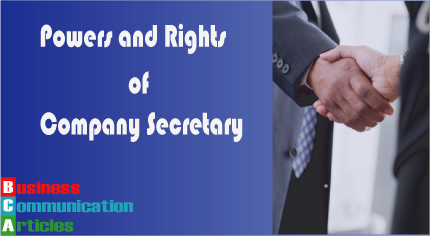 Rights of Company Secretary