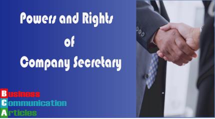 Rights of Company Secretary